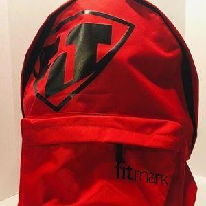 FitMark Red Backpack Lifetime Fitness